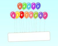 Happy Birthday Floating Sign Stock Images