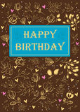 Happy birthday. Floral card Royalty Free Stock Images