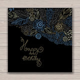 Happy birthday floral frame Stock Photo