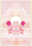Happy Birthday -  floral greeting card Stock Images