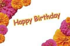 Happy Birthday Flowers Collage Stock Image
