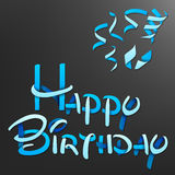 Happy Birthday font origami style Royalty Free Stock Photos