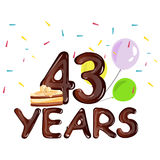Happy Birthday forty three 43 year Royalty Free Stock Images