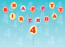 Happy birthday four years Stock Photos