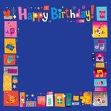 Happy Birthday frame Stock Photography