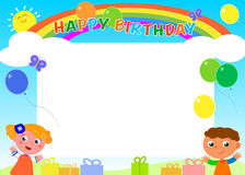 Happy birthday frame Stock Photos