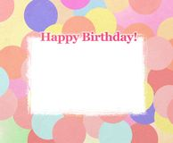 Happy birthday frames. With colorful circles vector illustration