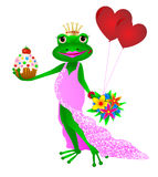 Happy Birthday frog Stock Image