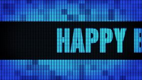 Happy Birthday Front Text Scrolling LED Wall Pannel Display Sign Board