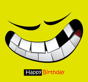 Happy birthday funny card smile eyes Royalty Free Stock Photos