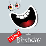 Happy birthday funny card smile white Royalty Free Stock Photography