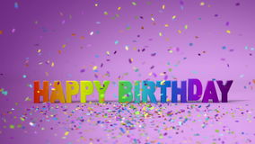Happy Birthday, funny 3d animation. Full HD stock footage