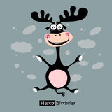 Happy Birthday funny deer smile Royalty Free Stock Photo