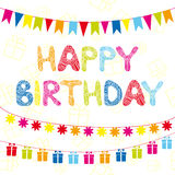 Happy Birthday funny greeting card Royalty Free Stock Photos