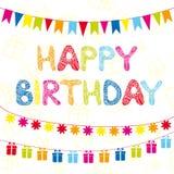 Happy Birthday funny greeting card Royalty Free Stock Photos
