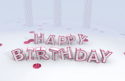 Happy birthday funny letters Royalty Free Stock Image