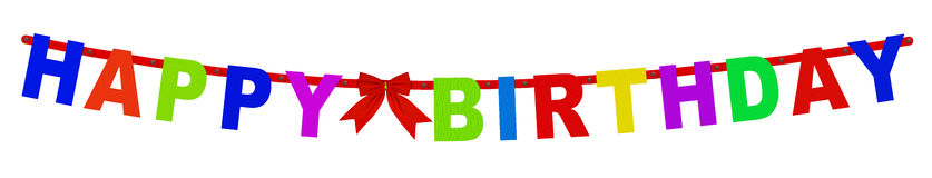 Free Happy Birthday Garland Royalty Free Stock Photography - 79542977