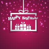 Happy Birthday gift box abstract paper Stock Images