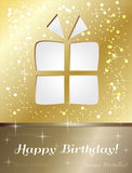 Happy birthday gift card Royalty Free Stock Images
