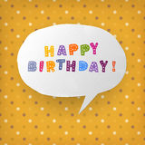 Happy birthday gift card template Stock Images