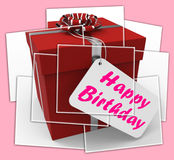 Happy Birthday Gift Displays Celebrating Age And Years Royalty Free Stock Images