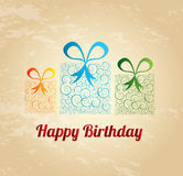 Happy birthday gift Stock Images