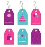 Happy Birthday gift tags Stock Photo