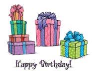 Happy Birthday Gifts Stock Photos