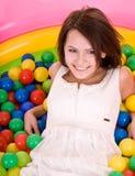 Happy birthday of girl in park. Royalty Free Stock Image