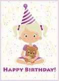 Happy birthday girl Royalty Free Stock Photos