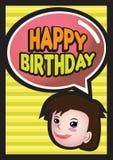 Happy Birthday Girl Royalty Free Stock Photo