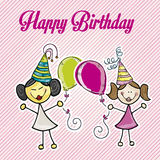 Happy birthday girls Royalty Free Stock Photo
