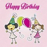 Happy birthday girls Royalty Free Stock Photo