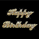 Happy birthday gold vector illustration