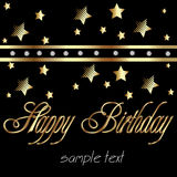 Happy birthday in gold Stock Photography