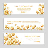 Happy birthday gold Heart balloon. Happy birthday balloon banner. Heart Gold balloon on background. Frosted party balloons for event design. Balloons  air. Party Stock Photos