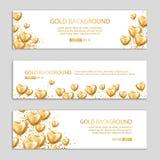 Happy birthday gold Heart balloon Stock Photos