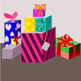 Happy Birthday!. A good gift for everyone is different vector illustration