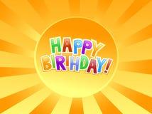 Happy birthday graffiti. On Sun Stock Photography