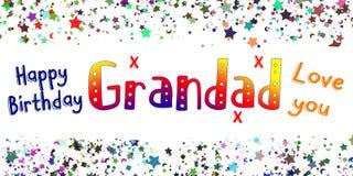 Happy Birthday Grandad Card Royalty Free Stock Image