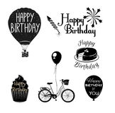 Happy Birthday Graphic Elements Set Royalty Free Stock Image