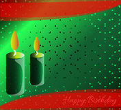 Happy Birthdaygreen background Stock Photography