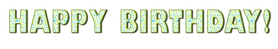 Happy Birthday- Green and Blue Polka Dots Royalty Free Stock Images