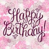 Happy birthday greeteng card Stock Photos