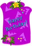 Happy Birthday Greeting Royalty Free Stock Images