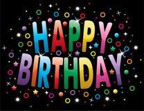 Happy birthday greeting Stock Photography