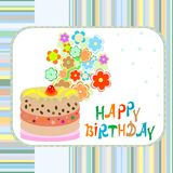 Happy birthday greeting  background cake Royalty Free Stock Photos
