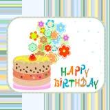 Happy birthday greeting  background cake Royalty Free Stock Photos