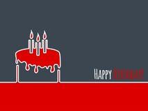 Happy birthday greeting with birthday cake Stock Image