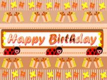 Happy birthday greeting card stock image
